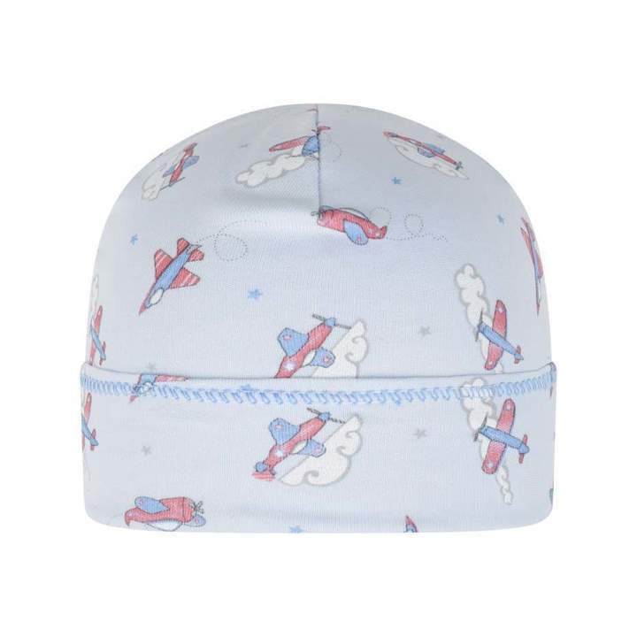 Magnolia BabyBaby Boys Blue Flying Around Printed Hat