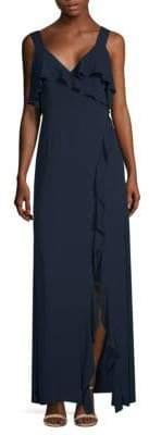 BCBGMAXAZRIA Sleeveless Ruffle Gown