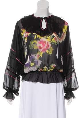 Matthew Williamson Silk Long Sleeve Top