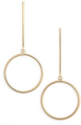 Women's Nordstrom Circle Drop Earrings $25 thestylecure.com