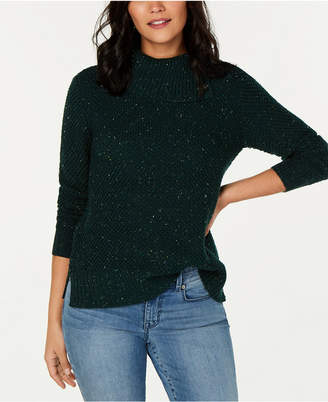 Style&Co. Style & Co Petite Envelope-Neck Tweed Sweater