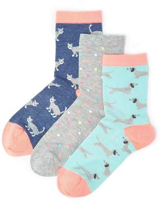 Marks and Spencer 3 Pairs of Animal Print Socks