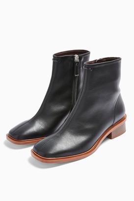Topshop VALLEY Vegan Black Flat Boots