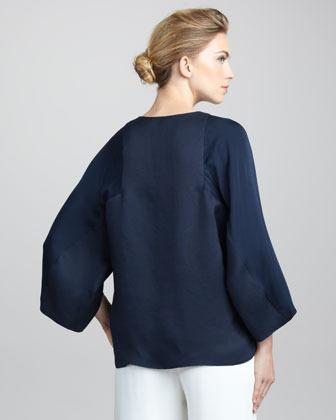 Giorgio Armani Silk Kimono Top