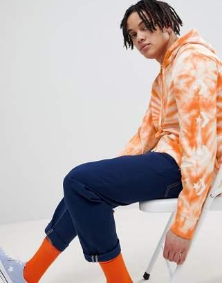 Converse Pullover Hoodie In Tie Dye In Orange 10005830-A02