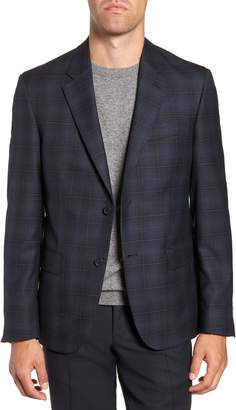 Nordstrom Trim Fit Shadow Plaid Sport Coat