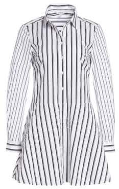 Derek Lam 10 Crosby Striped Poplin Shirtdress