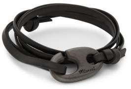 Miansai Brummel Hook Alligator Leather Bracelet