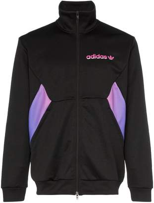 adidas Degrade high neck contrast panel track jacket