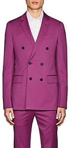 Calvin Klein Men's Wool Double-Breasted Sportcoat-Purple Size 46 Eu