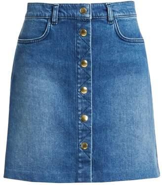d106b0dad8 Frame Claire Button Front Denim Mini Skirt