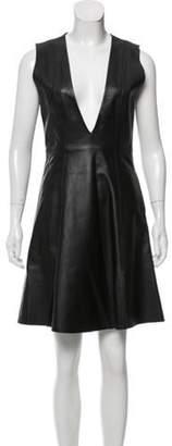 Acne Studios A-Line Leather Dress w/ Tags Black A-Line Leather Dress w/ Tags