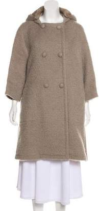 Louis Vuitton Mink-Lined Wool Long Coat