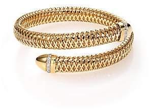 Roberto Coin Women's Primavera Diamond & 18K Yellow Gold Wrap Bracelet
