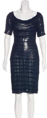 Tadashi Shoji Silk Sequined Dress