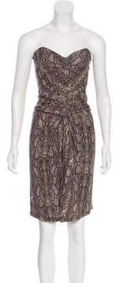 Michael Kors Strapless Knee-Length Dress Brown Strapless Knee-Length Dress