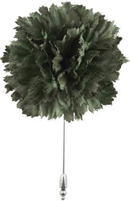 Cinabre Cotton Carnation Flower Lapel Pin