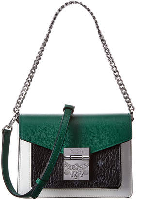 MCM Patricia Colorblocked Leather & Visetos Shoulder Bag