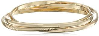 GUESS Basic 3 Piece Interlocking Bangle Bracelet