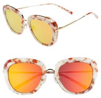 Women's Gentle Monster 52Mm Retro Sunglasses - White/ Rose Gradient Mirror $315 thestylecure.com