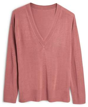 Next Womens Blush Luxe V-Neck Sweater