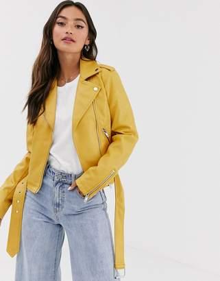 Glamorous pu biker jacket
