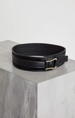 BCBGMAXAZRIA Faux Leather Pony-Trimmed Belt