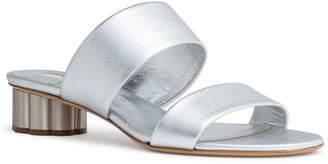 Salvatore Ferragamo Belluno 30 Silver Leather Sandals