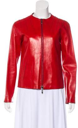 Amanda Wakeley Leather Zip-Up Jacket