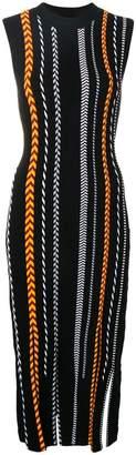 Versace braided tube midi dress