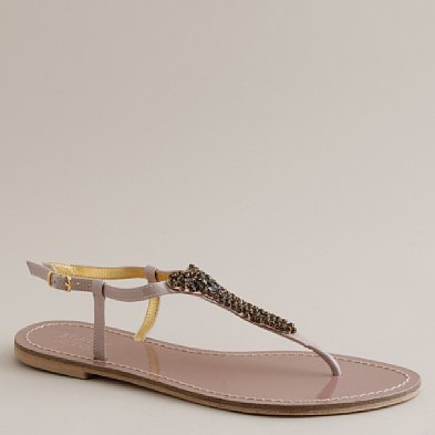 Lacey crystal T-strap sandals