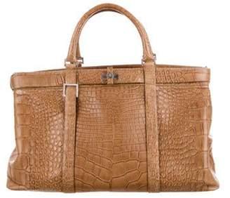 Loewe Alligator Top Handle Bag Tan Alligator Top Handle Bag