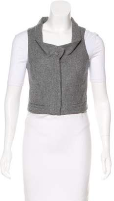Loeffler Randall Cropped Wool Vest
