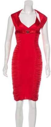 c8be83b1a3b Versace Sleeveless Knee-Length Cocktail Dress