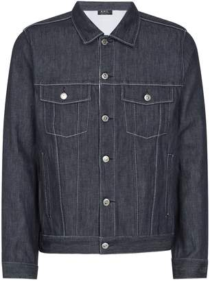 A.P.C. Contrast Stitch Denim Jacket