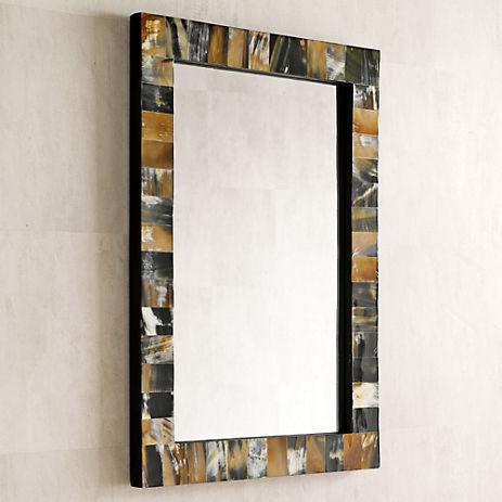 Gump's Horn Inlay Mirror