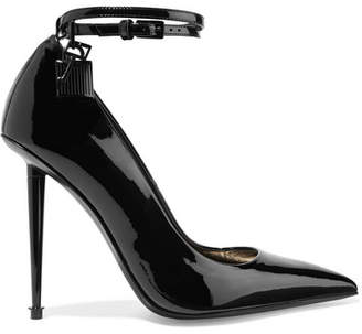 Tom Ford Padlock Patent-leather Pumps - Black
