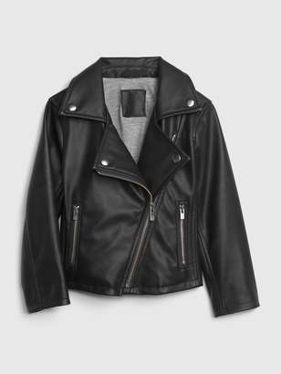 Gap Toddler Faux-Leather Biker Jacket