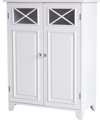 Elegant Home Fashions Prairie Double Door Floor Cabinet, White
