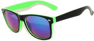 OWL Stylish Retro Two -Tone ( Black & Yellow) Sunglasses Mirror Lens