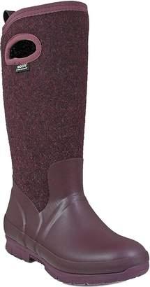 Bogs Outdoor Boot Women Crandall Wool Pull On 6 M Dark Gray Gold 72108