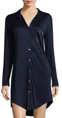 Hanro Silk-Blend Boyfriend Sleepshirt