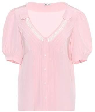 Miu Miu Silk-crêpe blouse