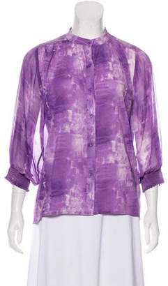 Alice + Olivia Long Sleeve Silk Blouse