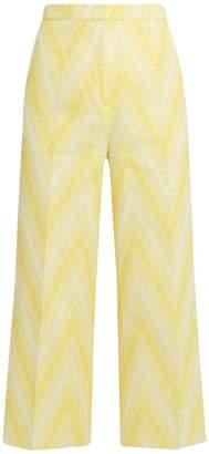 Rochas Chevron-jacquard cotton-blend culottes