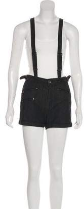 Rag & Bone Suspender Mini Shorts