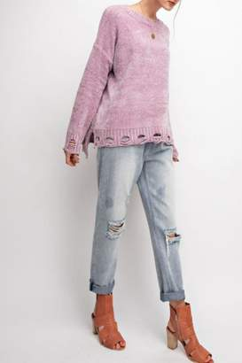 Easel Distressed Super-Comfy Sweater