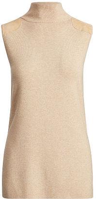 Polo Ralph Lauren Sleeveless Mockneck Sweater $165 thestylecure.com