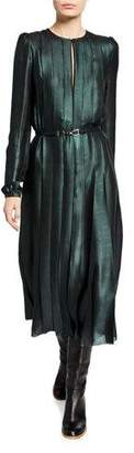 Gabriela Hearst Adelaide Iridescent Midi Dress