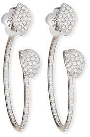 Pasquale Bruni Giardini Segreti Petite Diamond Hoop Earrings in 18 Karat White Gold